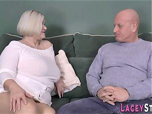 boob banging brit grannie