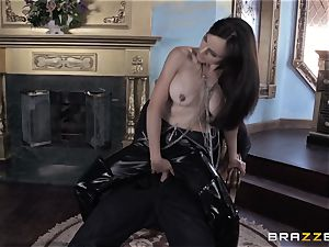 filthy thief Cytherea pulverizes her enemy in super-steamy cock-squeezing rubber