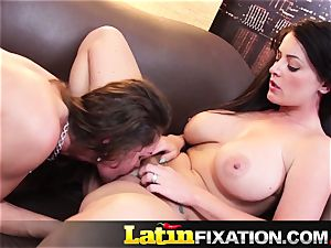 LatinFixation super-fucking-hot 3 way with Sophie Dee
