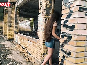 LETSDOEIT - small French teen pulverized stiff In Outdoors