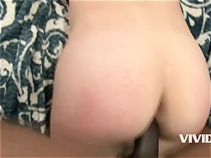 redhead Audrey Hollady harsh pulverized by her big black cock