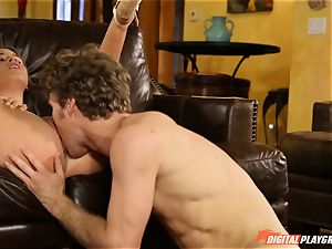 Family hump lessons with stepmom and step-father - Phoenix Marie and Alexis Adams