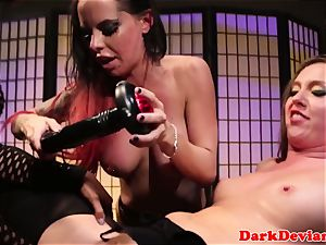 female dominance 3 lesbos rough strap-on boink session