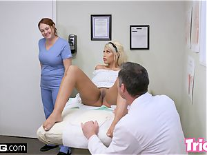Trickery milf Bridgette B has bang-out with large man meat doctor