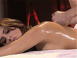 Bella gets a blessed ending massage