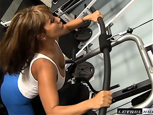 milf plumbing at the gym with Ava Devine and John strenuous