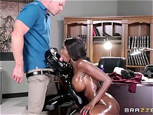 Diamond Jackson - Oily massage in the office