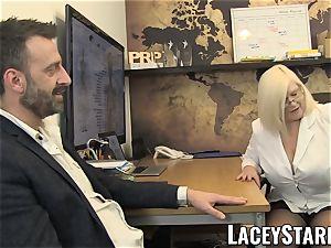 LACEYSTARR - GILF licks Pascal white spunk after bang-out