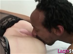 grannie loves a phat ebony fuckpole in her cooter