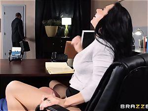 secretary Jayden Jaymes smashes on the bosses desk