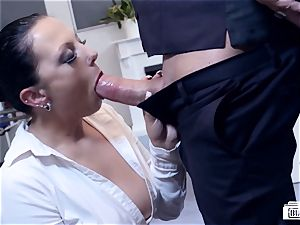 cabooses BUERO - mind-blowing German cougar tears up chief at the office