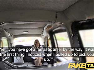 fake taxi office gal in stockings tossing salad buttfuck fuckfest