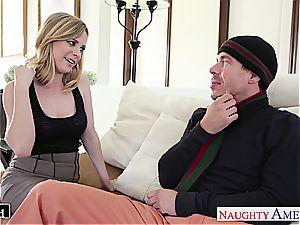 Ravishing Penny Pax slips his rigid trunk between her slit lips