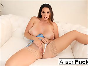 Alison Tyler caresses her puss