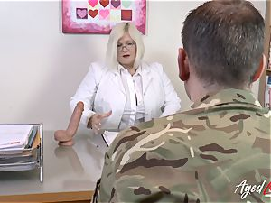 AgedLovE Lacey Starr drilling rigid with Soldier