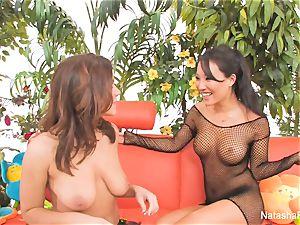 Natasha Nice's first-ever anal experience with Asa Akira