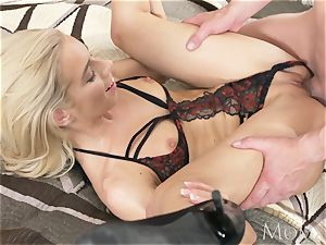 mommy wifey lets spouse cheat with blonde Russian