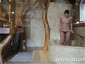 steamy blondie Churikova liking getting off