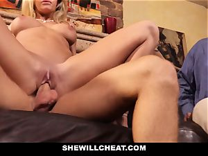 hotwife hubby observes Wifes cunny Get destroyed