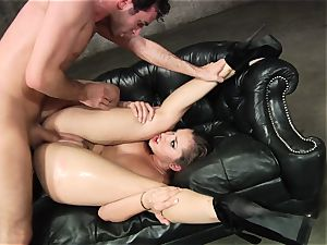 Dani Daniels gets her steaming cunt filled with rock-hard cock