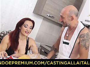 audition ALLA ITALIANA - big-titted newbie goes for ass-fuck lovemaking