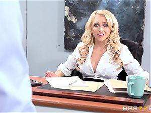 stellar office babe Alix Lynx takes a second helping