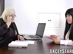 LACEYSTARR - biz GILF tongue probes youthful cootchie