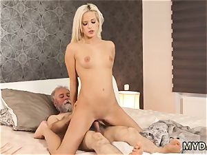 inexperienced cougar with gigantic mounds boinks young Surprise your girlpal and she will nail with your
