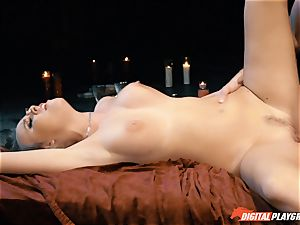 Alexis Adams lets him complete on her face