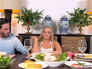 Julia Ann and Lily Rader get horny at the dinner table