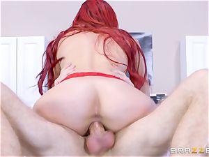 kinky nurse Skyla Novea thrashed in her fleshy moist muff