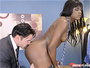 uber-sexy Ana Foxx has super-steamy steaming fuck-fest with Charles Dera