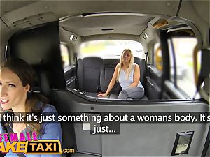 chick fake taxi big-chested blonde in girl/girl sexual anal