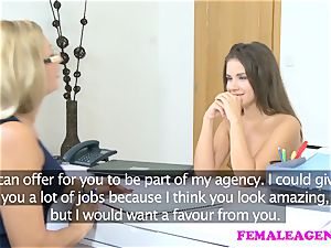 FemaleAgent super-sexy casting ends in g/g fervor climaxes