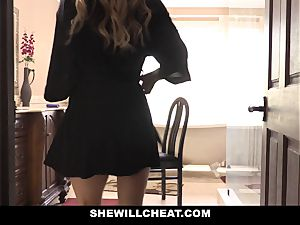 SheWillCheat wild wife nailed by spouses employee