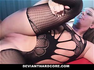 DeviantHardcore - caged mega-bitch Gets dominated By bbc