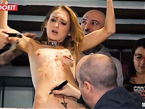 Ukrainian stunner Gets multiple climaxes in red-hot bondage & discipline party