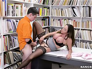 supreme brazilian bra-stuffers educator Ariella Ferrera entices young schoolboy