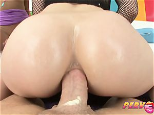 PervCity Krissie and Proxy asian assfuck 3 way