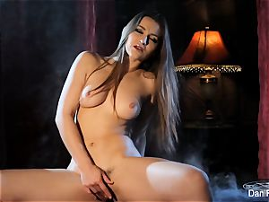 Smoking super-hot solo sequence with dark haired babe Dani Daniels