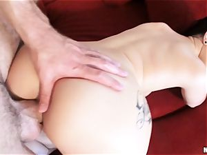 newly wed Katrina Jade is oiled up and plumbed by her new hubby