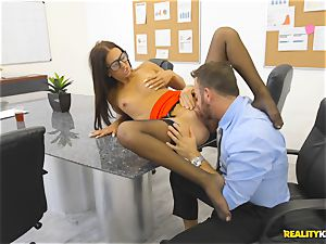 Office smash with the secretary Aubrey Rose who happens to be the bosses daughter-in-law