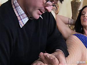 wild ultra-cutie Jayden Jaymes enjoys her husband but wants Johnny's dick
