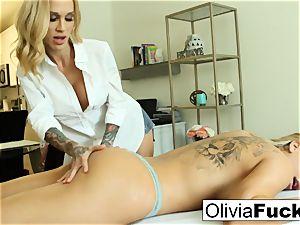 Olivia Austin gets romped by Sarah Jessie