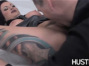 emo milf Lola luscious vagina plumbed with trouser snake and fucktoys