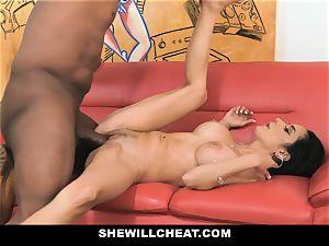 SheWillCheat - molten wife With yam-sized Rack likes dark-hued lollipop