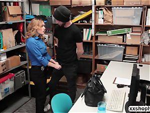 torrid towheaded LP Officer Krissy Lynn gets bang by a Shoplifter