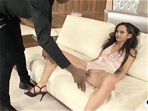 HER restrain - rough anal invasion and face nail with Shrima Malati