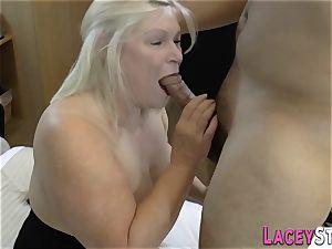 huge-boobed brit grannie romped