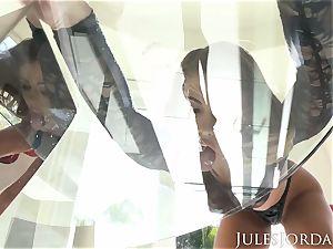 Jules Jordan - Adriana Chechik double anal invasion internal cumshot!